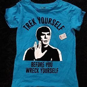 Trek Yourself Before You Wreck Yourself tee